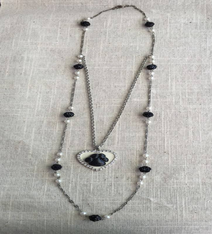 Black and White layered spirit necklace (not for sale)