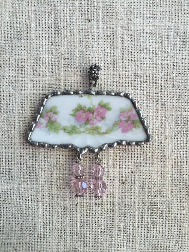 Pink China with charms $35